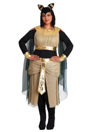 Click Here to buy Womens Bastet Goddess Plus Size Costume from HalloweenCostumes, CDN Funds & Shipping