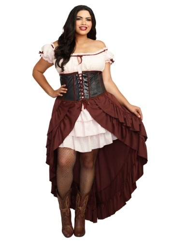 Saloon Girl Plus Size Costume for Women