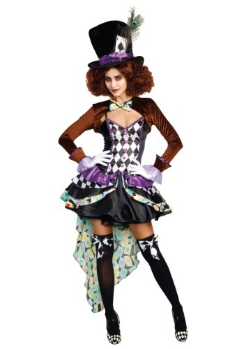 Raving Mad Hatter Costume for Women | Tea Party Costume