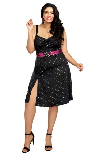 Click Here to buy Disco Diva Plus Size Womens Costume from HalloweenCostumes, CDN Funds & Shipping
