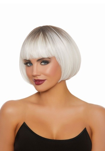 Click Here to buy Dip Dye Short Bob White Wig from HalloweenCostumes, CDN Funds & Shipping
