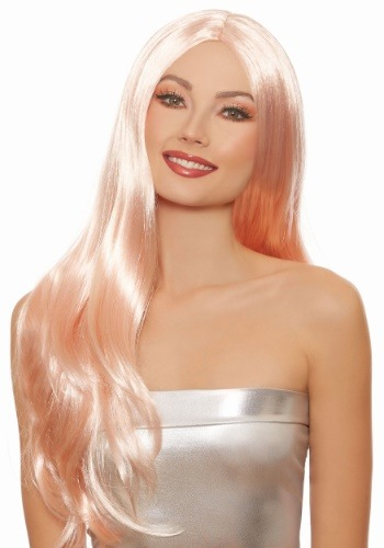 Click Here to buy Long Straight Rose Gold Wig from HalloweenCostumes, CDN Funds & Shipping