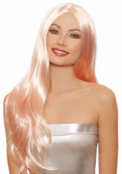 Women's Long Straight Rose Gold Wig