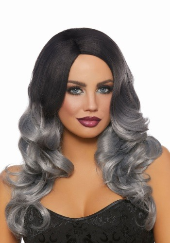 Long Black/Grey Ombre Wig