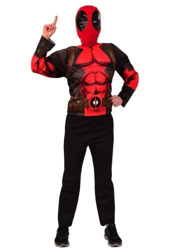 Click Here to buy Kids Deadpool Mask & Top Costume Deluxe Set from HalloweenCostumes, CDN Funds & Shipping