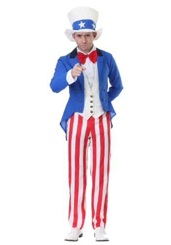 Click Here to buy Classic Plus Size American Uncle Sam Costume from HalloweenCostumes, CDN Funds & Shipping