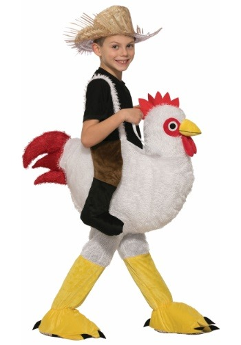 Click Here to buy Ride a Chicken Kids Costume from HalloweenCostumes, CDN Funds & Shipping