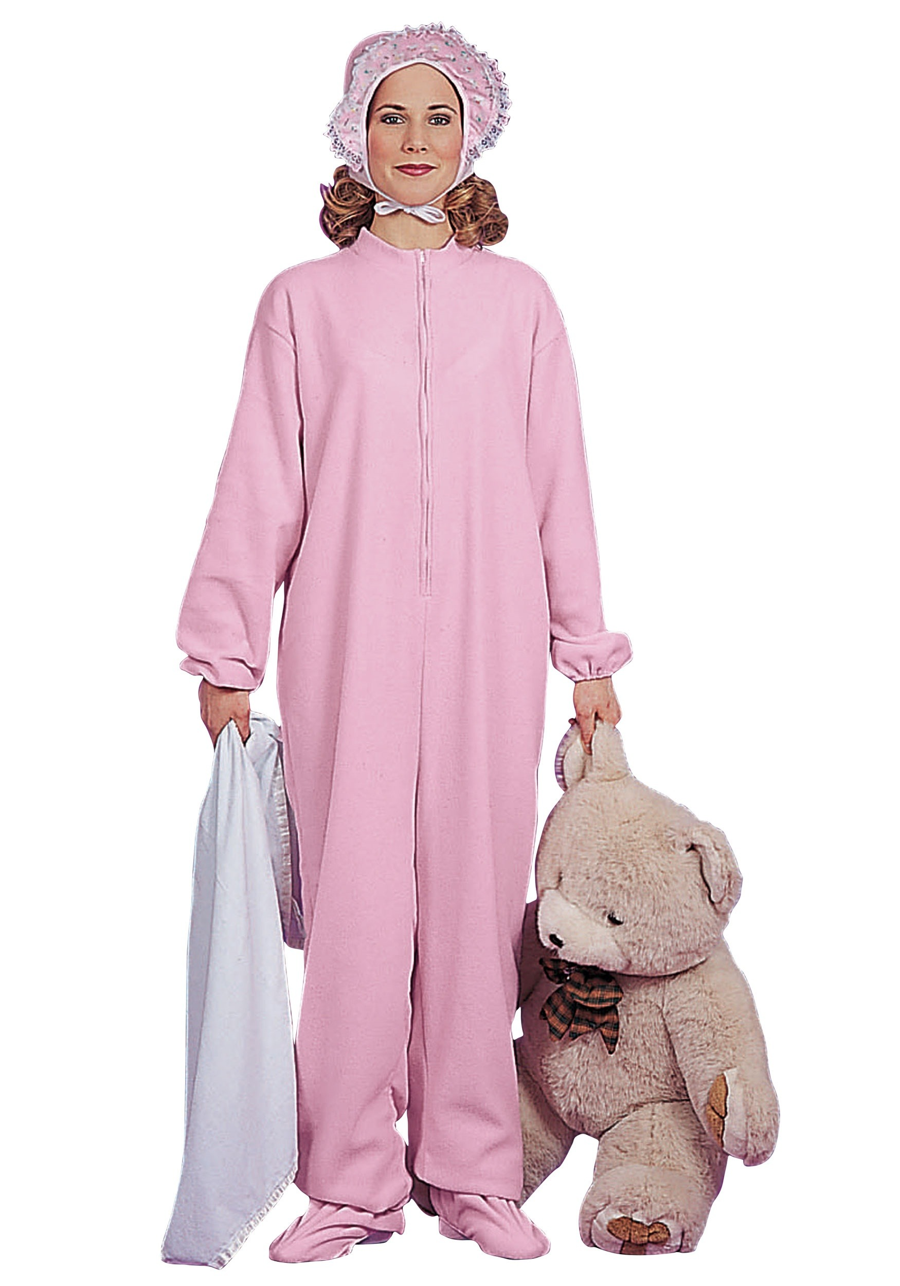 Pink Adult Baby Pajamas Costume for Women