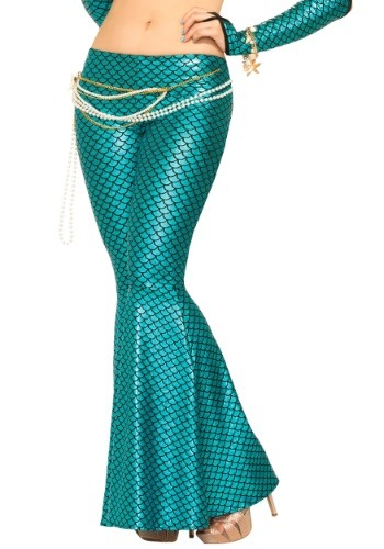 Blue Mermaid Leggings for Women