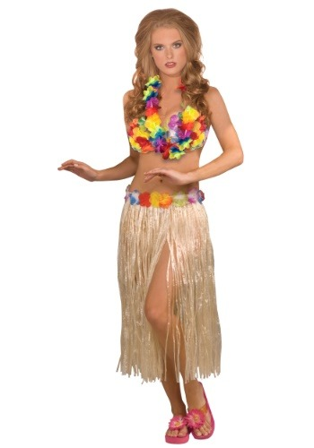 3-Piece Hula Girl Costume Set for Women