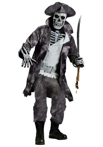 Click Here to buy Ghost Pirate Costume | Ghost Halloween Costume For Adults from HalloweenCostumes, CDN Funds & Shipping