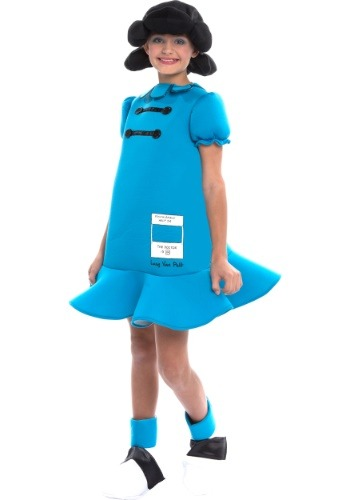Click Here to buy Peanuts Lucy Girls Costume from HalloweenCostumes, CDN Funds & Shipping