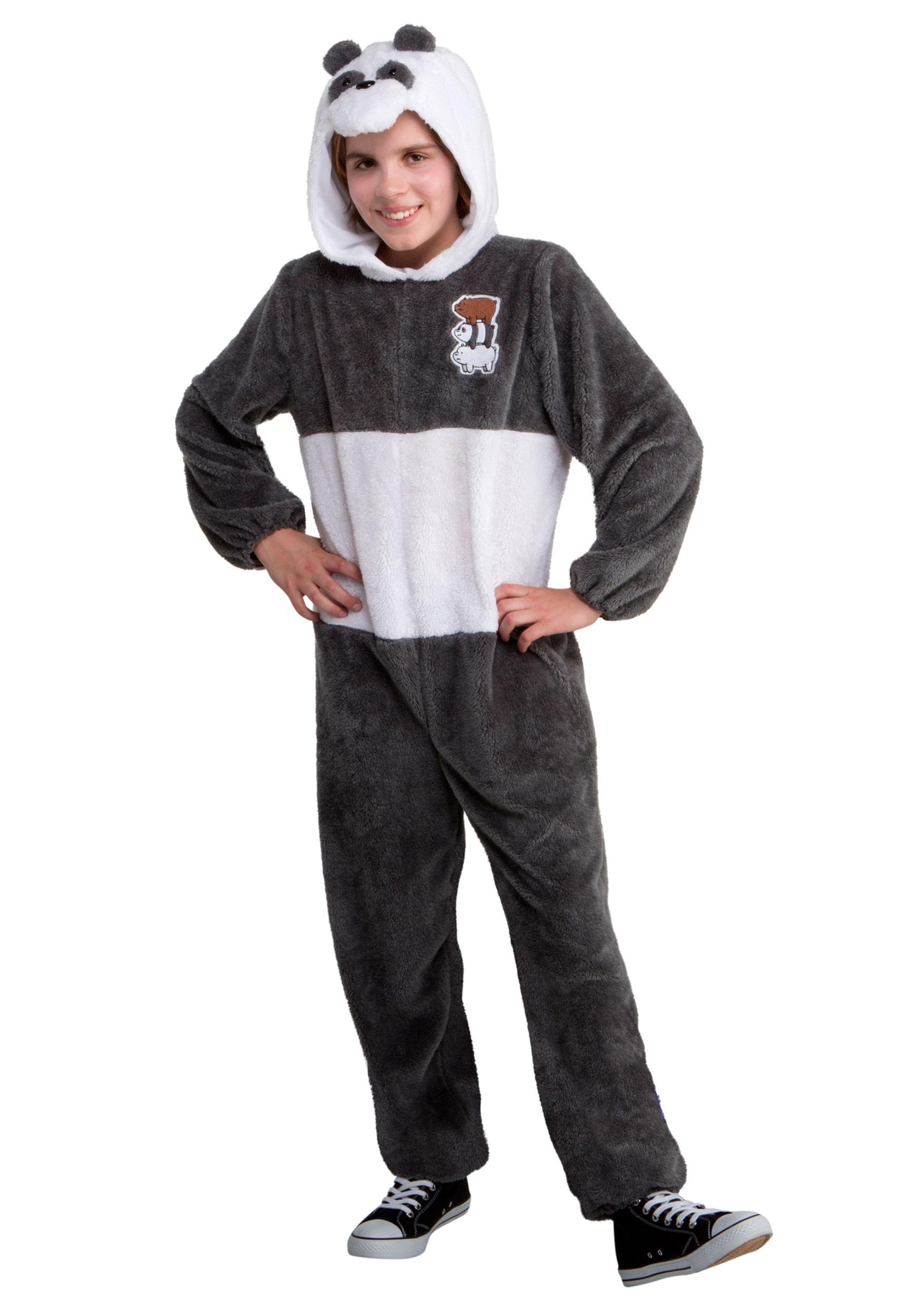 panda bear we bare bears kid costume