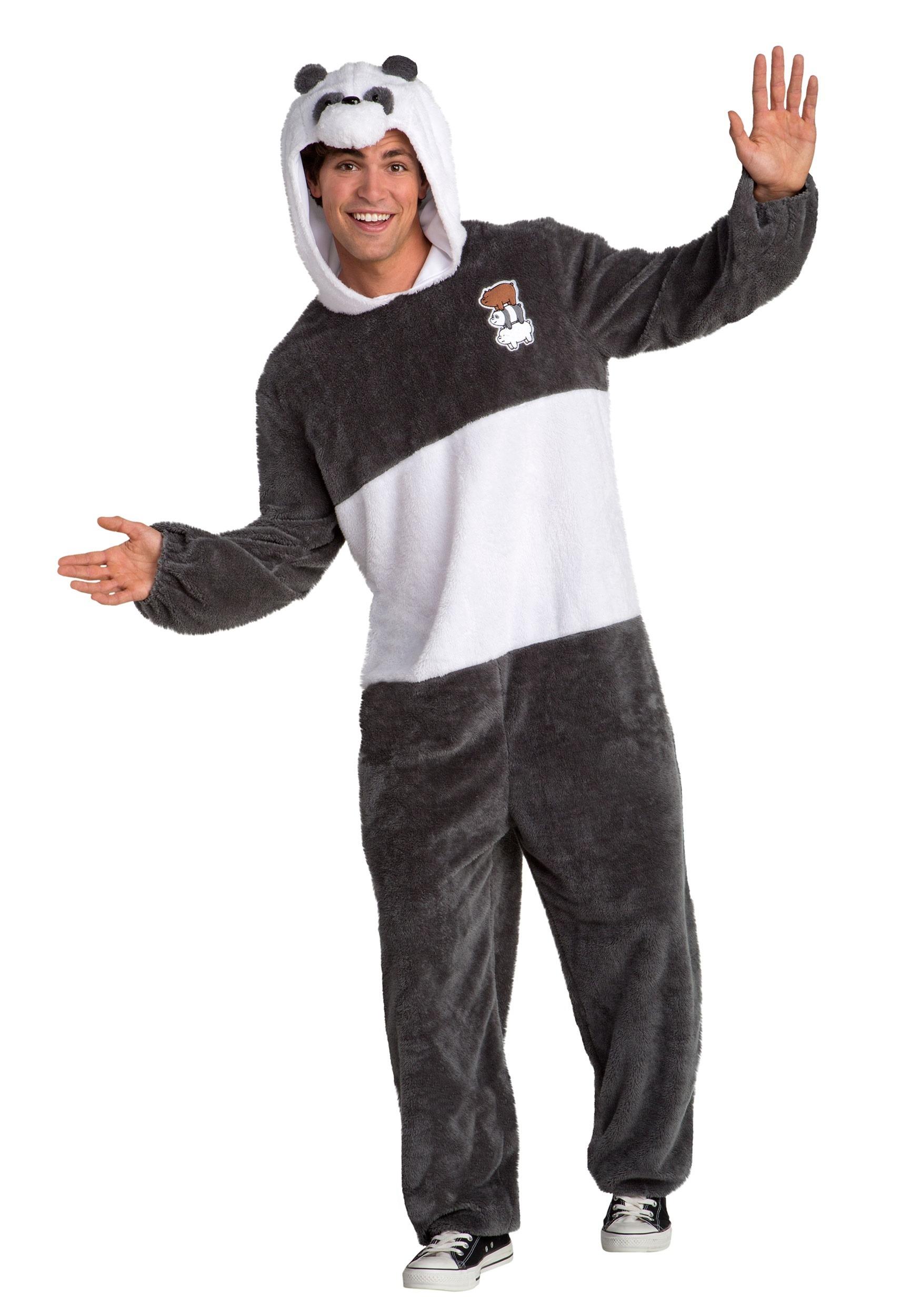 We Bare Bears Panda Bear Costume for Men