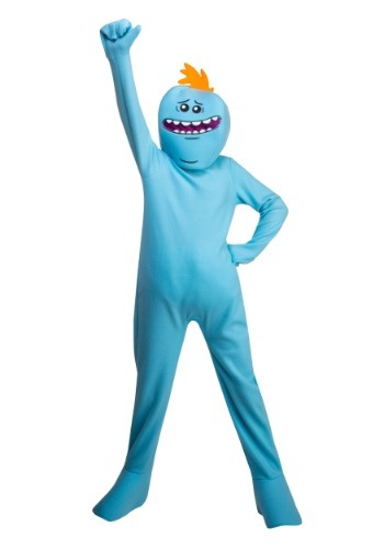 Click Here to buy Rick and Morty Mr. Meeseeks Kids Costume from HalloweenCostumes, CDN Funds & Shipping