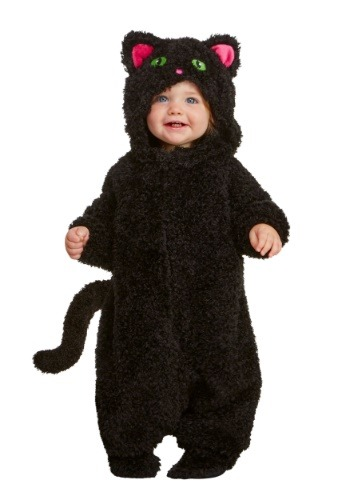 Black Cat Costume for Babies | Warm Halloween Costume
