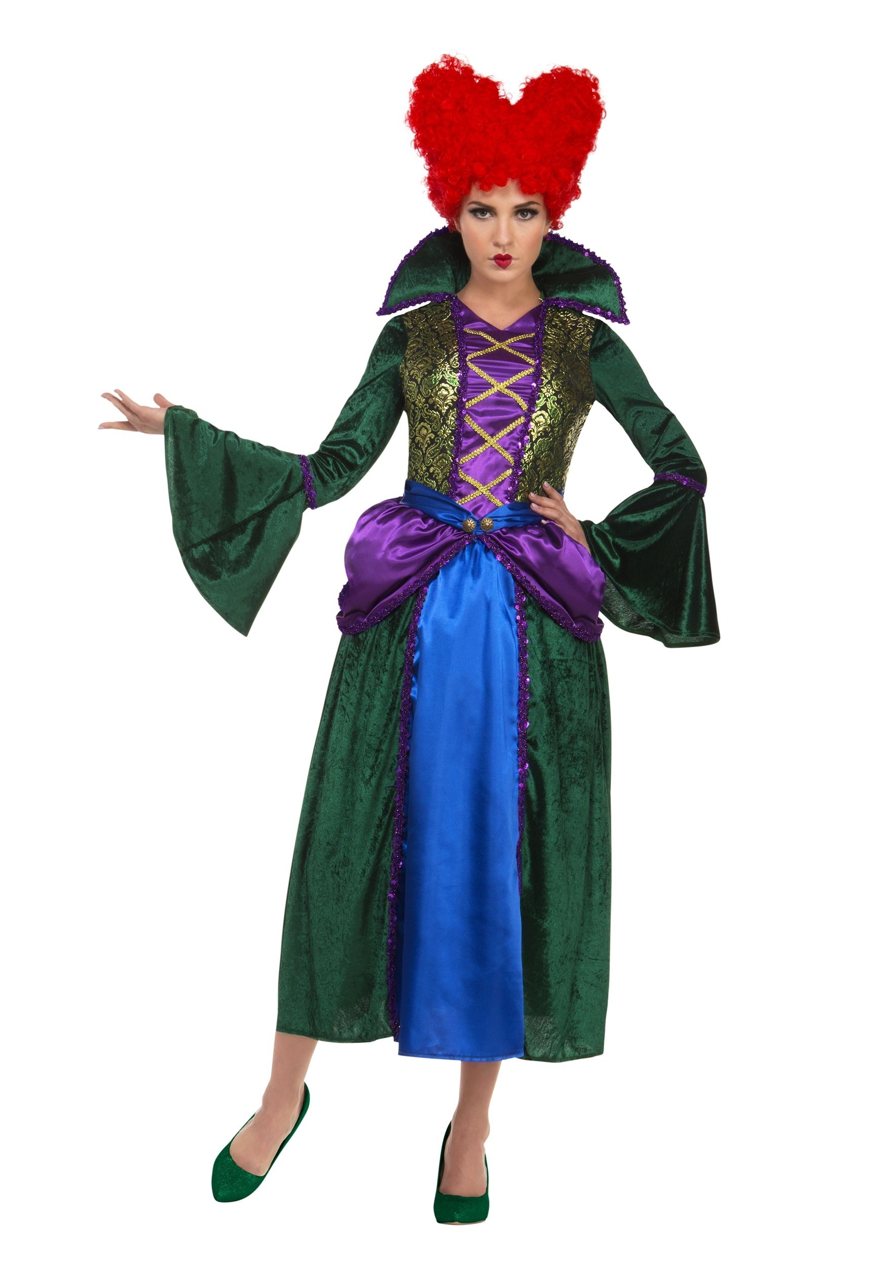 INOpets.com Anything for Pets Parents & Their Pets Bossy Salem Sister Witch Costume for Women