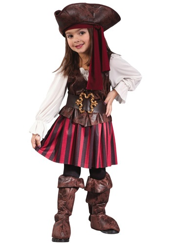 Caribbean Toddler Pirate Girl Costume