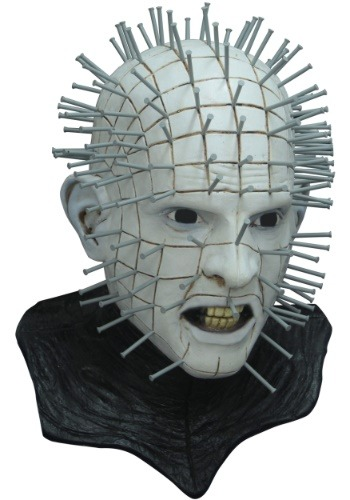 Click Here to buy Hellraiser III Pinhead Deluxe Mask for Adults from HalloweenCostumes, CDN Funds & Shipping