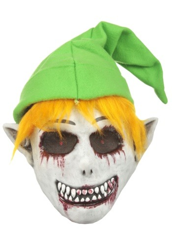Ghostly Video Game Elf Mask for Adults