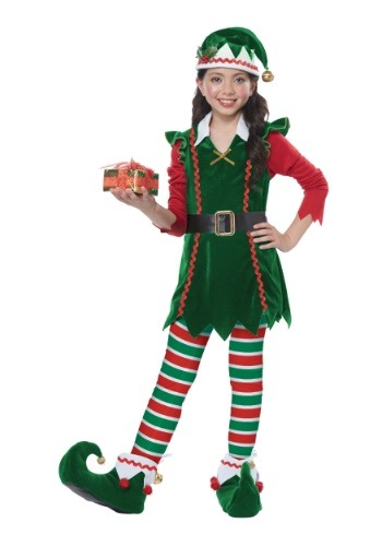 Click Here to buy Festive Elf Costume Kids from HalloweenCostumes, CDN Funds & Shipping