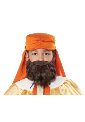 Boys Wise Man Brown Beard and Mustache