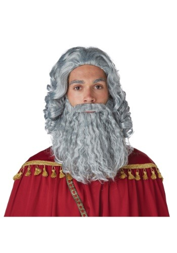Mens Wise Man Gray Wig and Beard