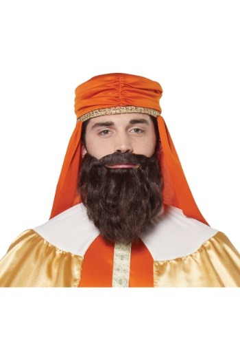 Mens Wise Man Brown Wig and Beard
