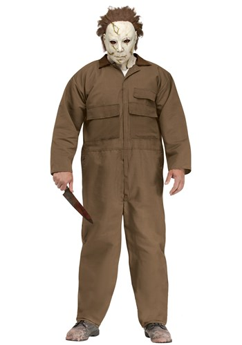 Click Here to buy Rob Zombie Halloween Michael Myers Plus Size Mens Costume from HalloweenCostumes, CDN Funds & Shipping