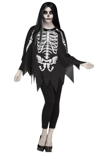 White Bones Poncho Costume for Women