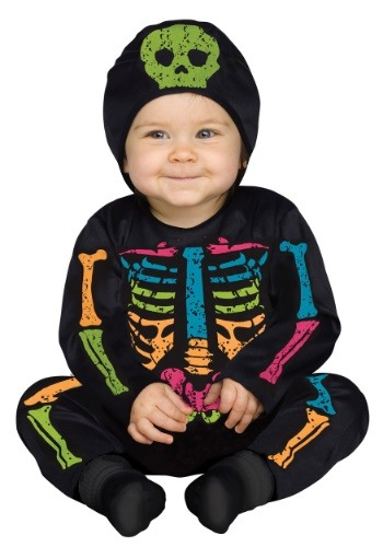 Color Bones Jumpsuit Costume for Infants