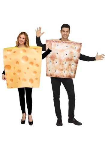 Click Here to buy Cheese & Cracker Costume Set for Couples from HalloweenCostumes, CDN Funds & Shipping