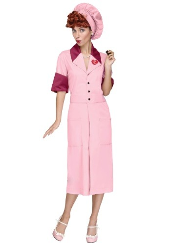 Click Here to buy Candy Factory Costume from I Love Lucy from HalloweenCostumes, CDN Funds & Shipping