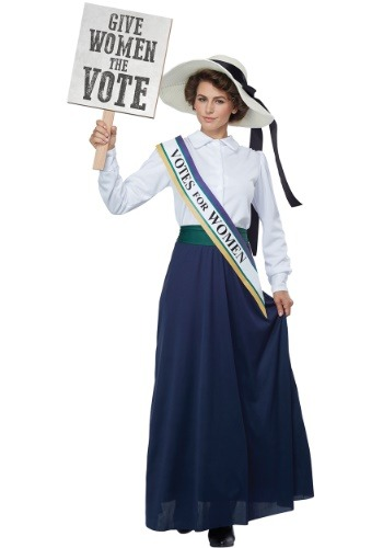 Click Here to buy American Suffragette Womens Costume | Historical Costume from HalloweenCostumes, CDN Funds & Shipping