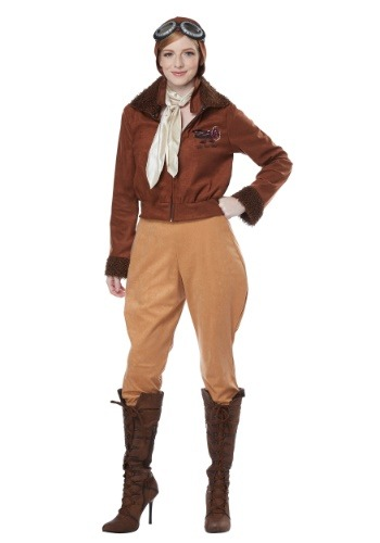 Click Here to buy Amelia Earhart Womens Costume from HalloweenCostumes, CDN Funds & Shipping