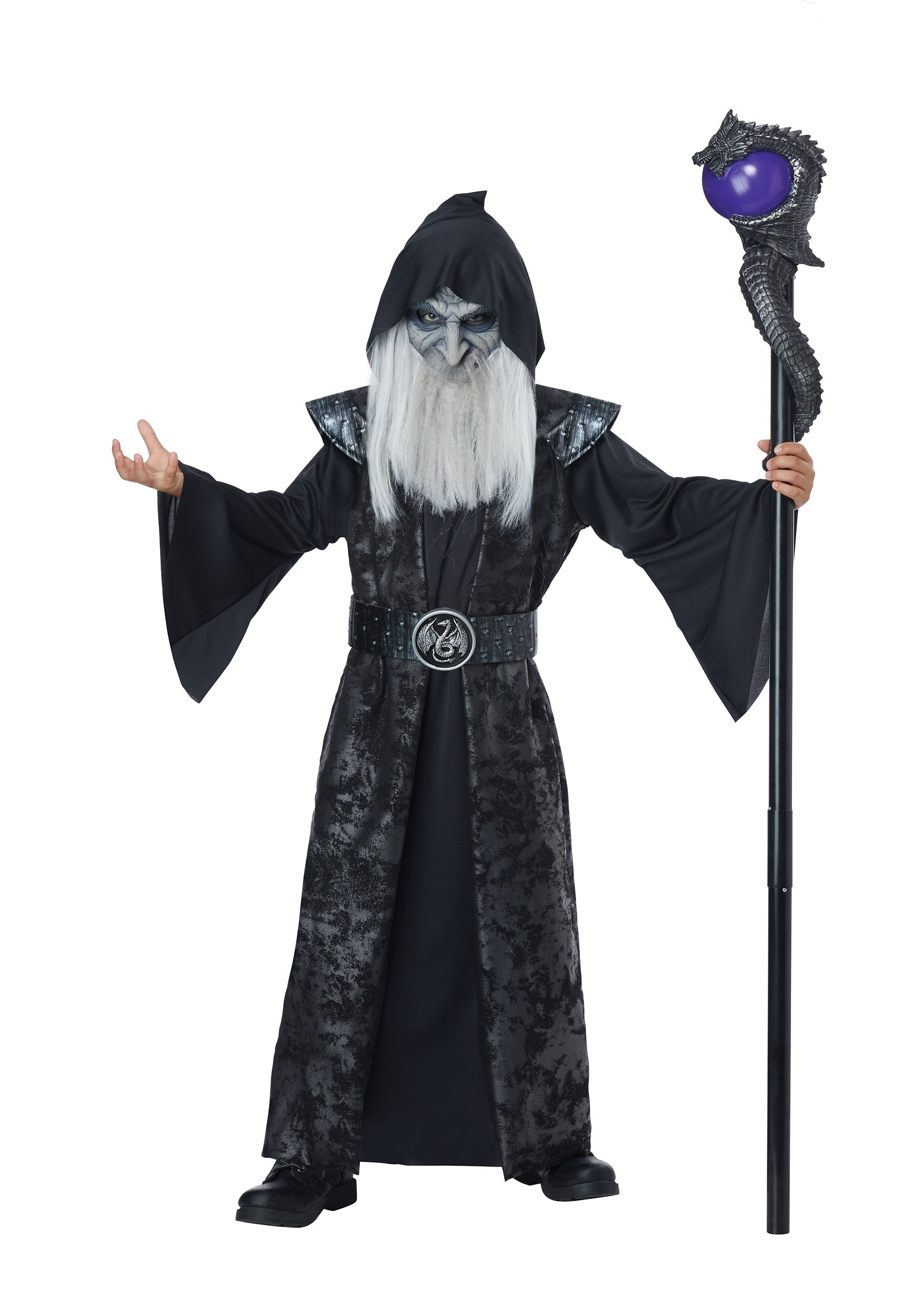 INOpets.com Anything for Pets Parents & Their Pets Dark Wizard Costume for Children