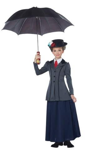 Girl's English Nanny Costume