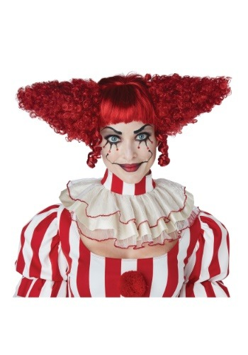 Click Here to buy Dark Red Creepy Clown Wig from HalloweenCostumes, CDN Funds & Shipping