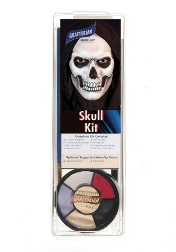 Click Here to buy Deluxe Skeleton Face Makeup Kit from HalloweenCostumes, CDN Funds & Shipping