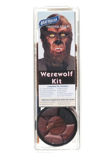 Click Here to buy Deluxe Werewolf Face Makeup Kit from HalloweenCostumes, CDN Funds