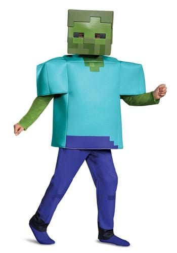 Click Here to buy Minecraft Deluxe Kids Zombie Costume from HalloweenCostumes, CDN Funds & Shipping