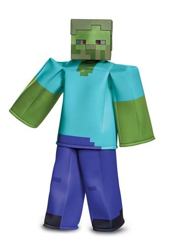 Click Here to buy Minecraft Prestige Zombie Costume from HalloweenCostumes, CDN Funds & Shipping