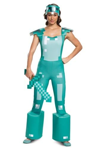 Click Here to buy Minecraft Female Armor Costume from HalloweenCostumes, CDN Funds & Shipping