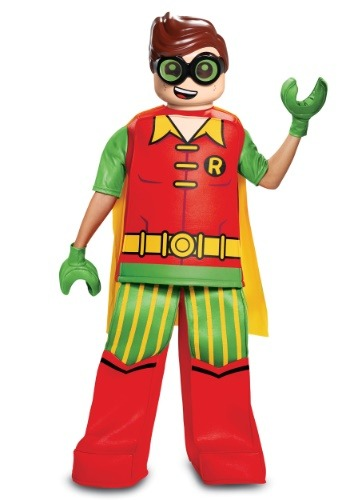 Click Here to buy Batman Prestige Kids Lego Robin Costume from HalloweenCostumes, CDN Funds & Shipping