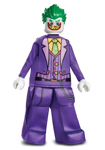 Click Here to buy Lego Batman Kids Prestige Joker Costume from HalloweenCostumes, CDN Funds & Shipping