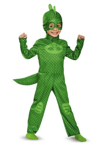 Click Here to buy PJ Masks Classic Gekko Costume for Toddlers from HalloweenCostumes, CDN Funds & Shipping