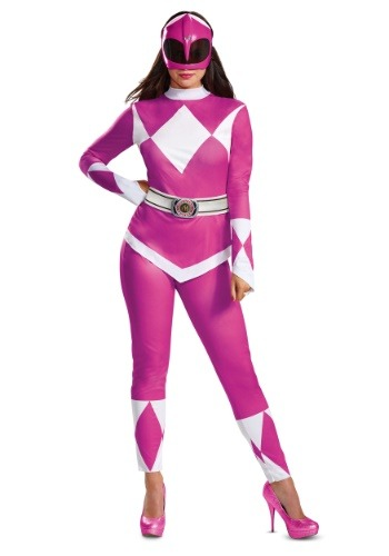 Click Here to buy Power Rangers Pink Ranger Womens Costume from HalloweenCostumes, CDN Funds & Shipping