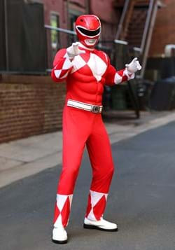 Adult Power Rangers Red Ranger Muscle Costume