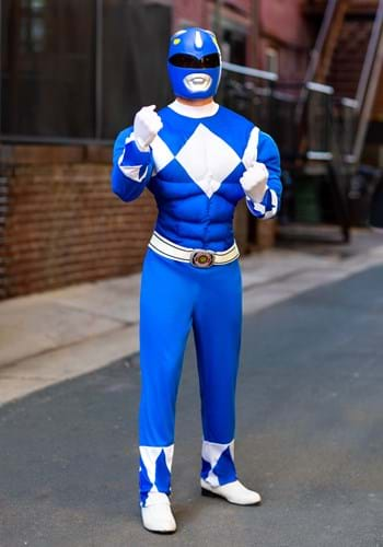 Power Rangers Mens Blue Ranger Muscle Costume