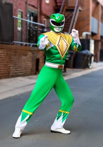 Mens Power Rangers Green Ranger Costume